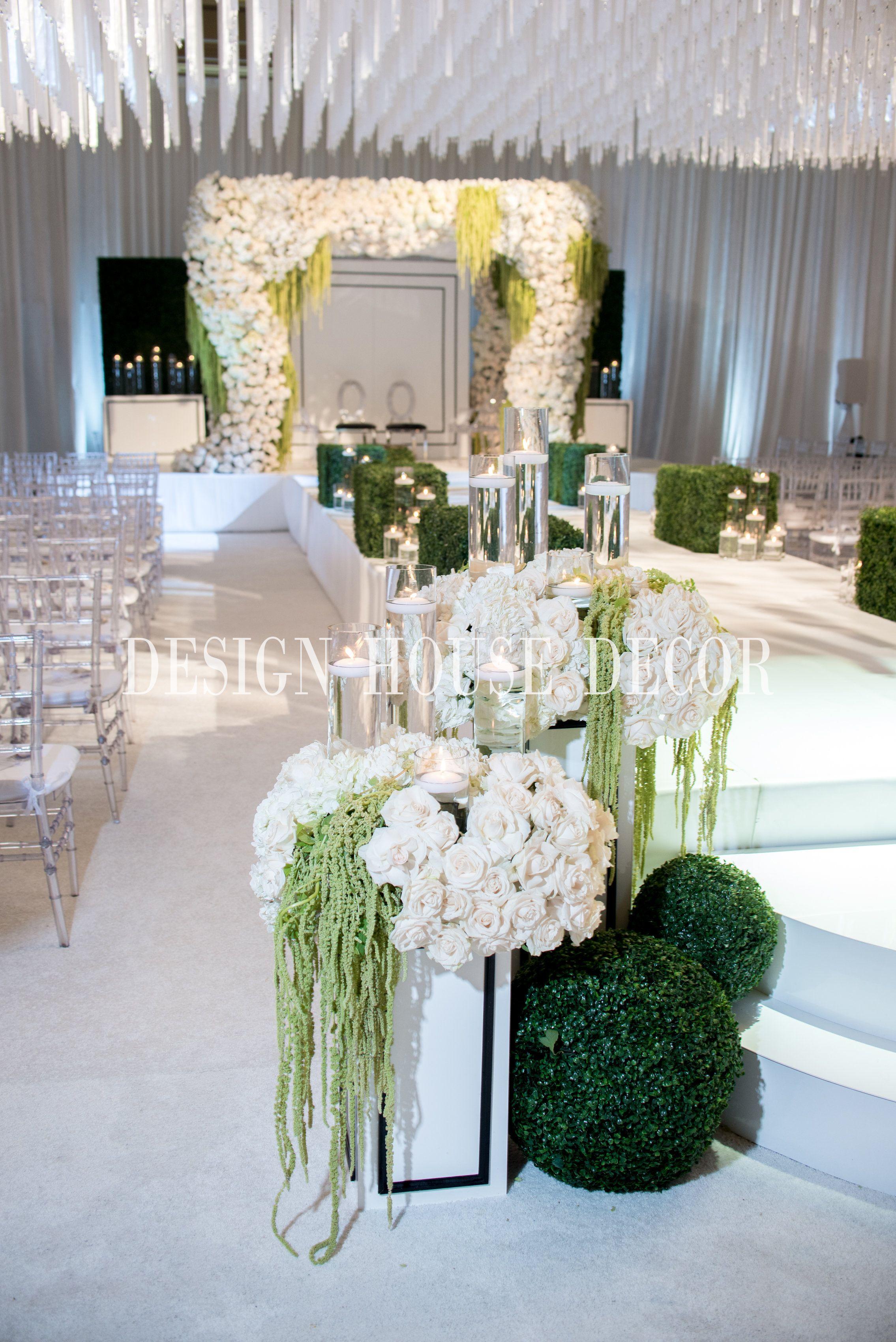 Aisel Decor Ceremony White Wedding Design House
