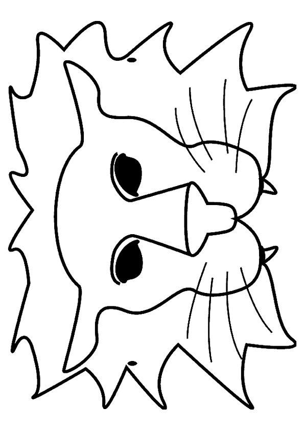 leeuwen masker maken