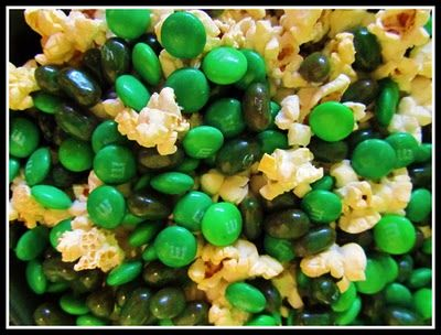 Camo party popcorn and M's