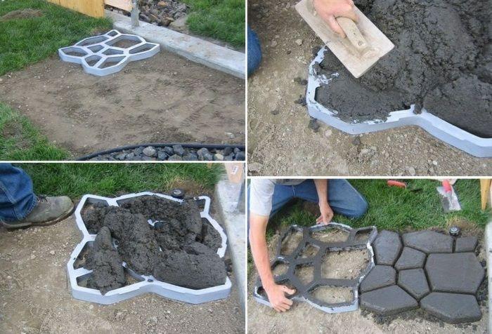 Uberlegen Basteln Mit Beton Gartendeko, Fliesen Selber Machen