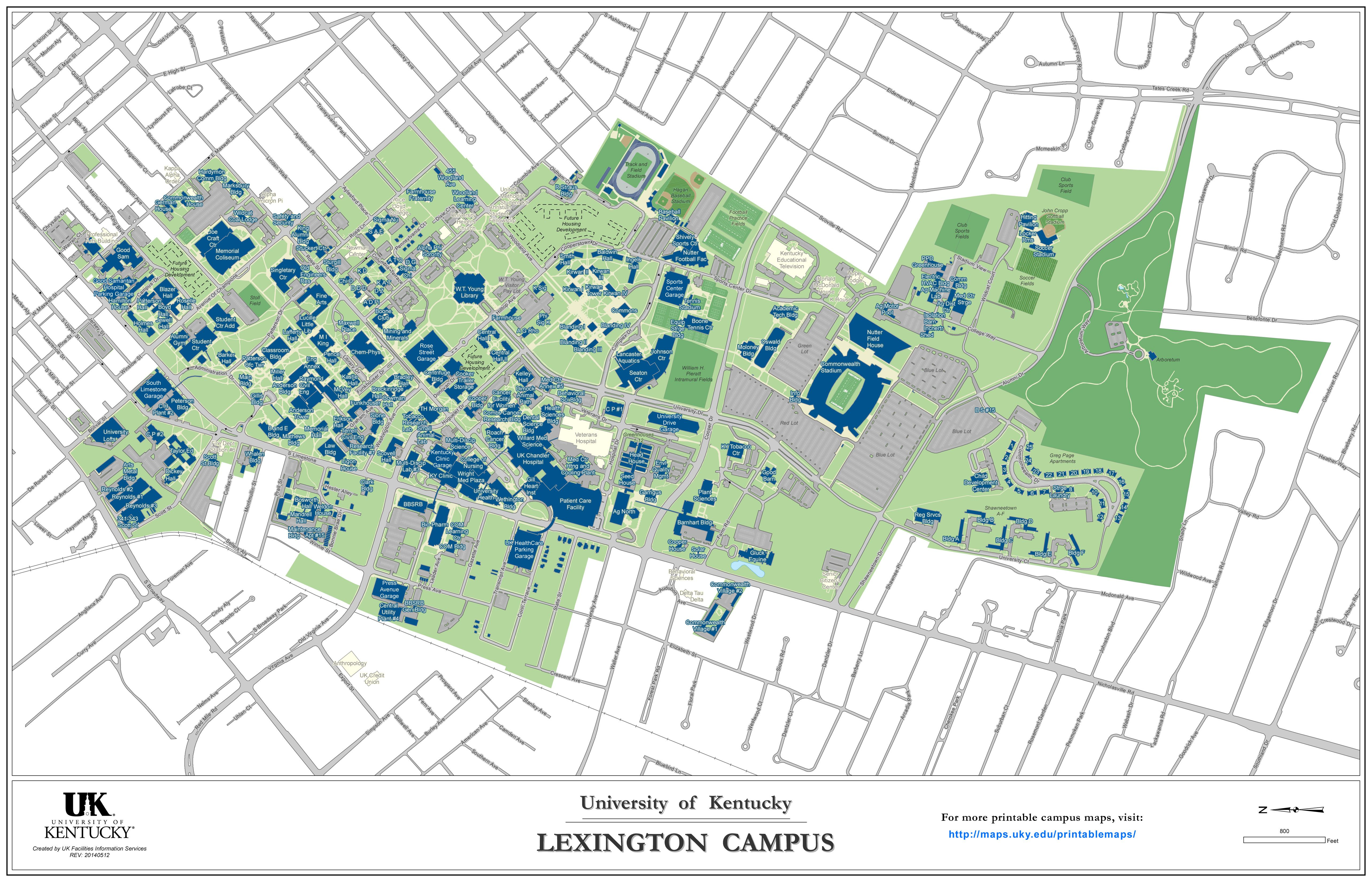 This is a map of UK campus. Why are there more dorms on the ...