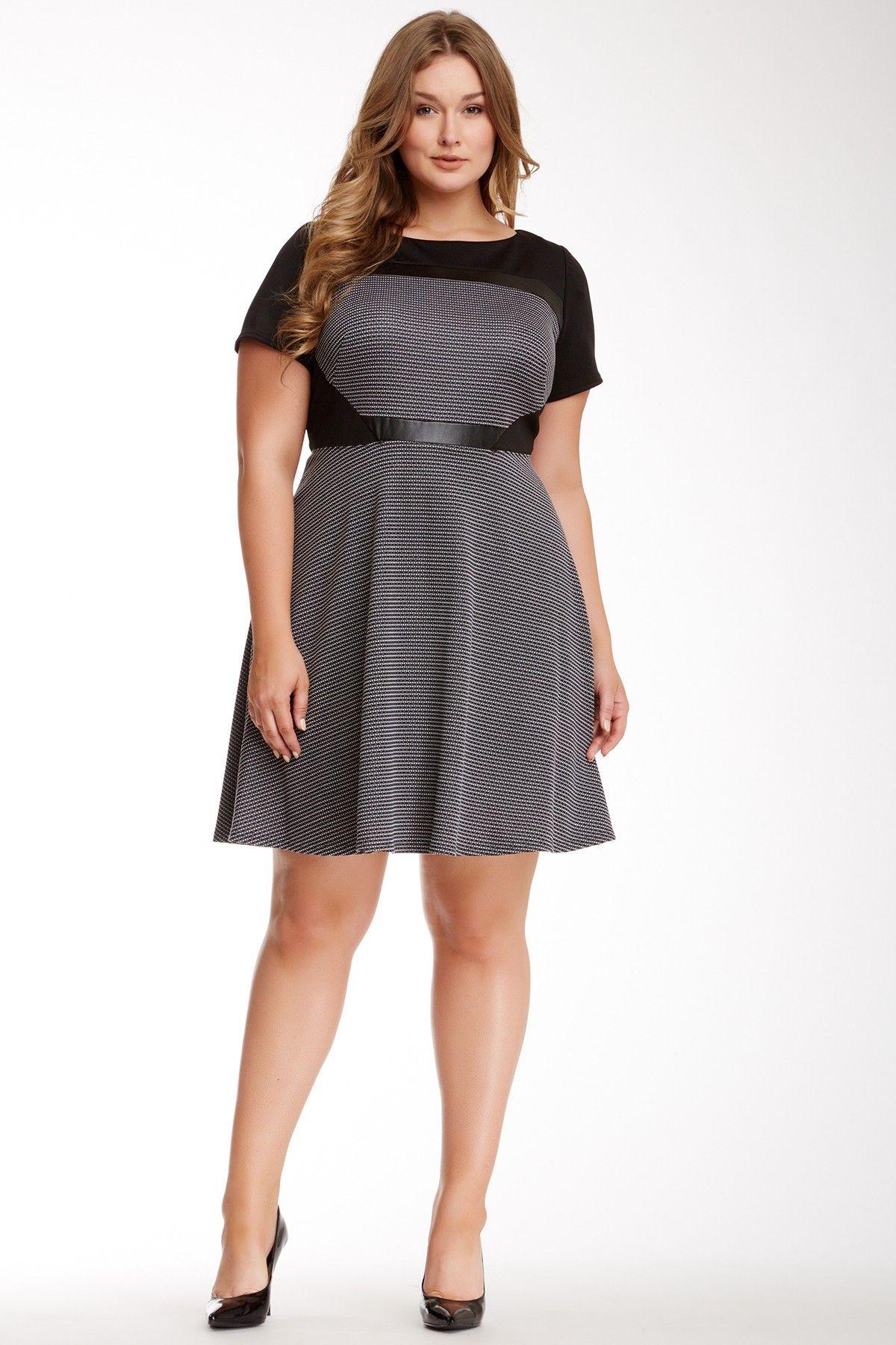 Pleather dress plus size