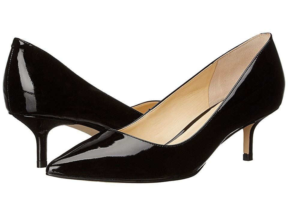 df4c80bda1d4 Ivanka Trump Athyna (Black Patent) Women s Shoes. The Ivanka Trump Athyna  pumps flaunt a classic silhouette with kitten heel. Leather upper.