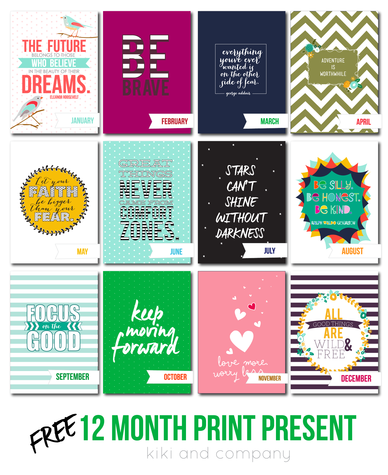 Christmas Gift Planner: Holiday Gift Idea: 12 Month Print Present