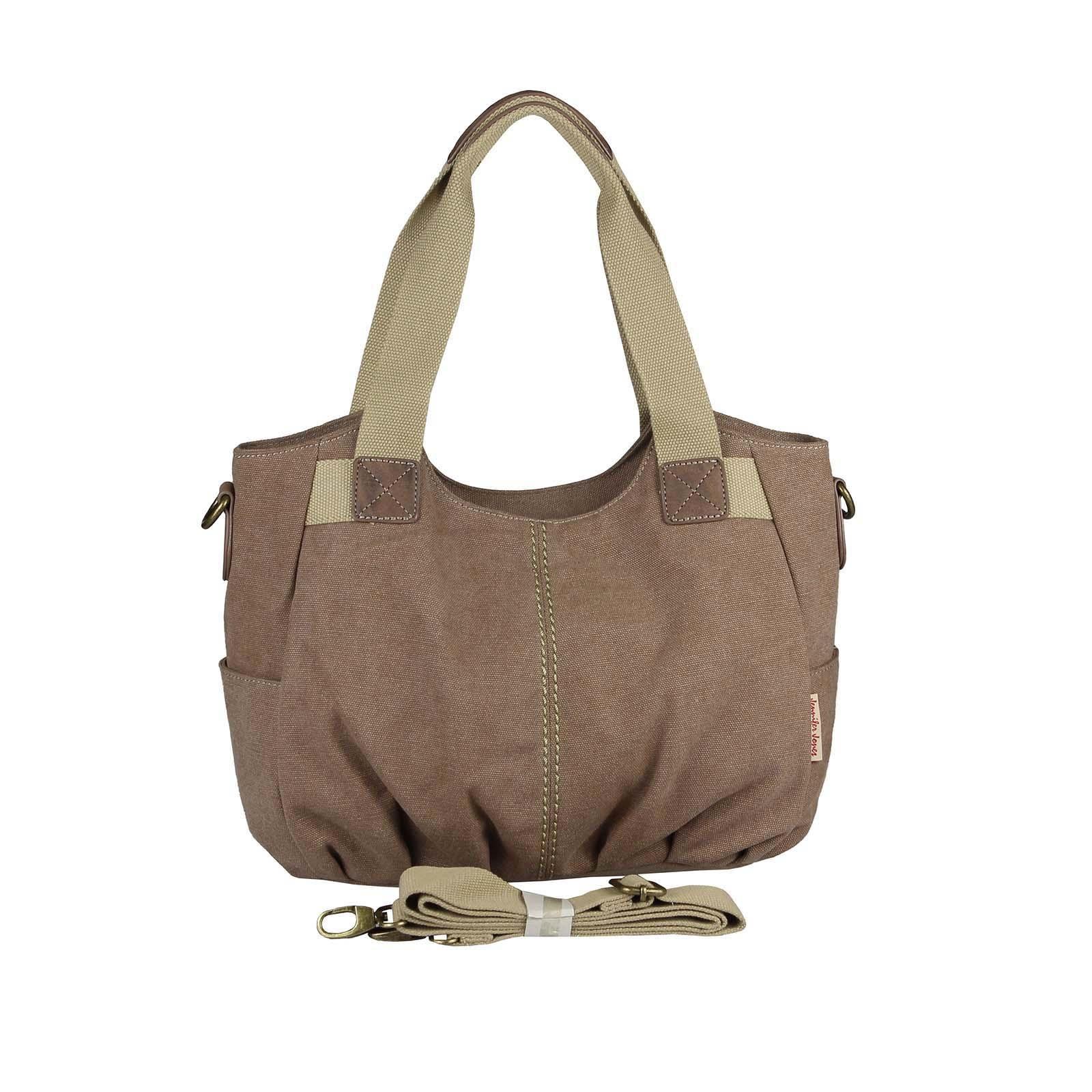 OBC Damen Canvas Tasche Handtasche Henkeltasche Schultertasche Shopper  Umhängetasche CrossOver Stofftasche City Bag Street Beuteltasche 5f402e6a23