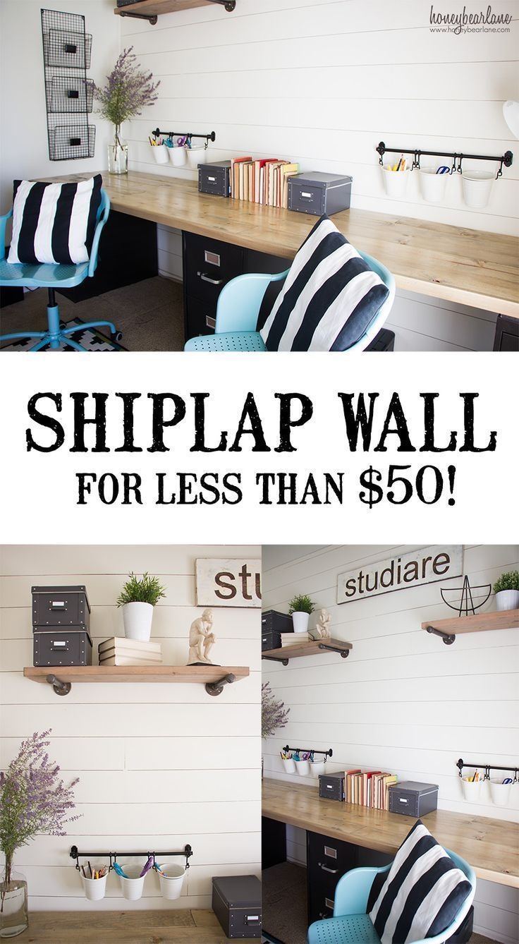 Info's : Make a DIY Shiplap Wall for less than ! | Home Update | Home Decor #diy #diyprojects #homedecor