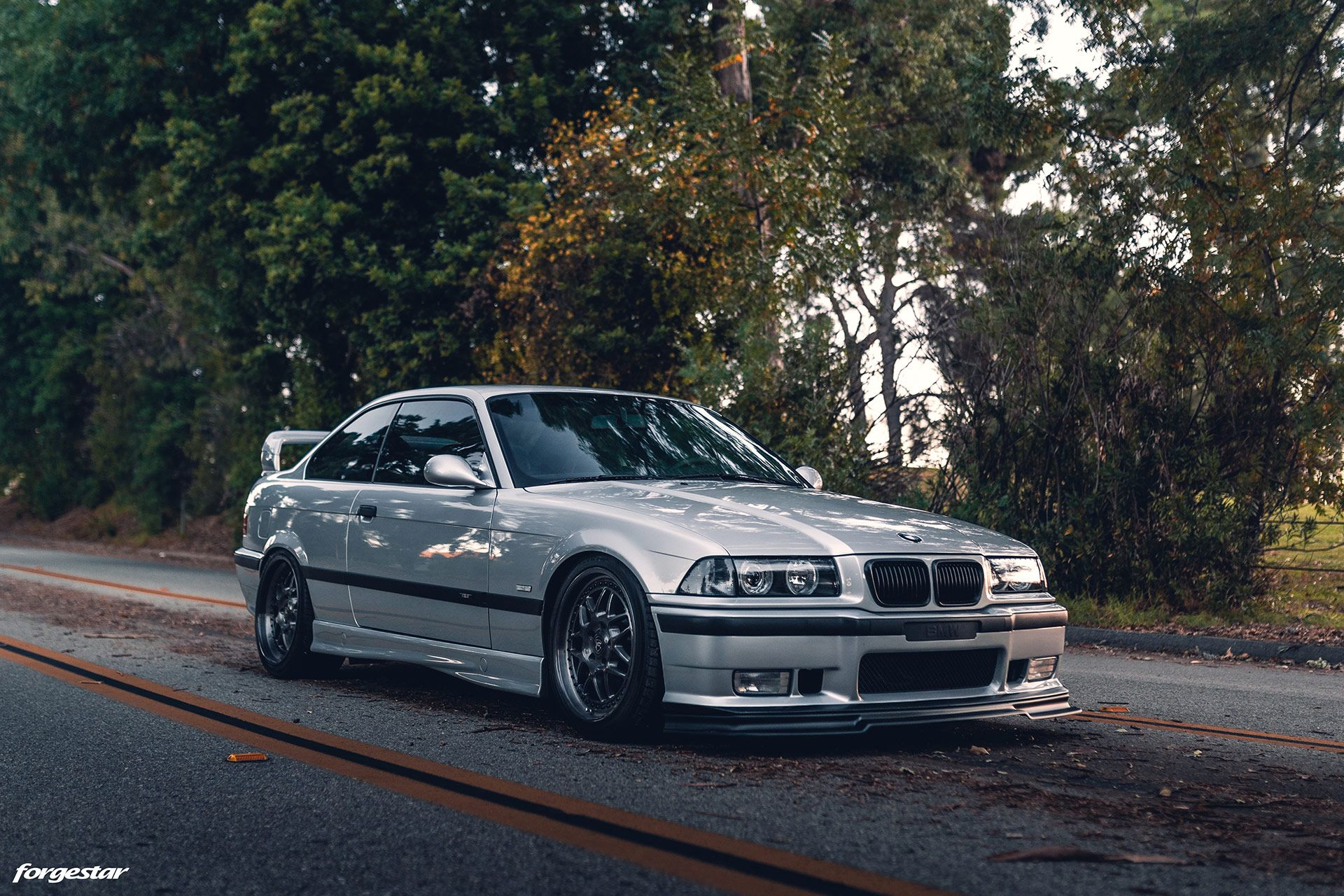 Clean Artic Silver Bmw E36 M3 With Aftermarket Mods And Wheels