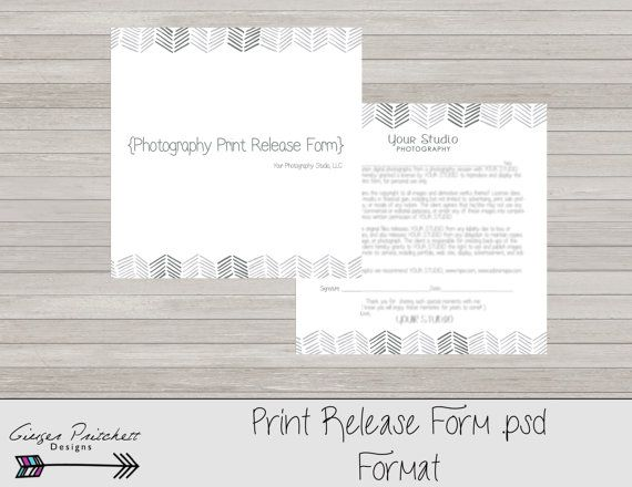 release form, print release form, photography print release form - image release form