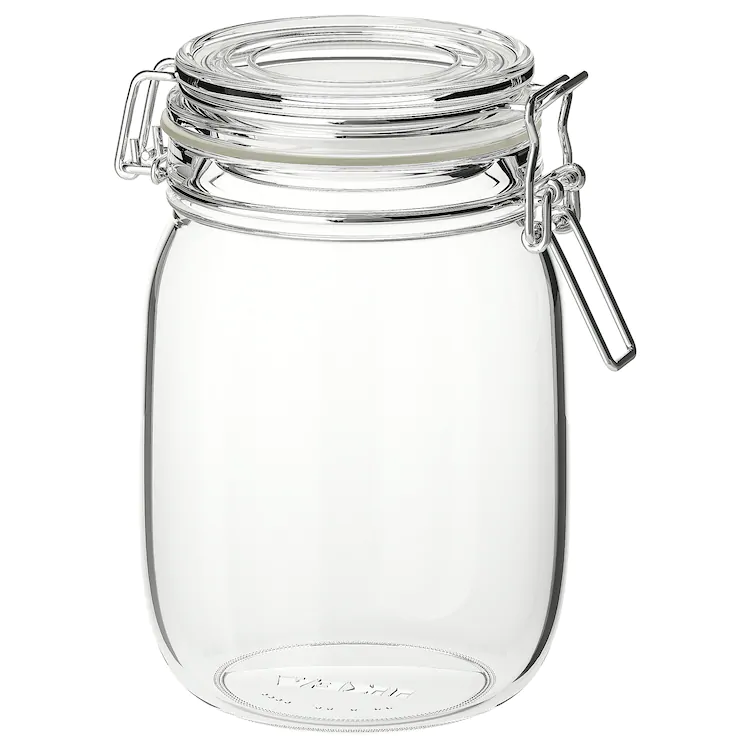 Korken Jar With Lid Clear Glass 34 Oz 3 99 Height 7 Diameter