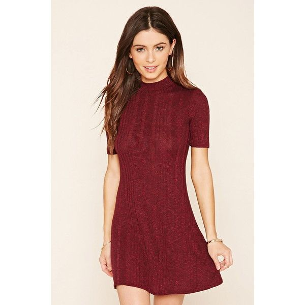 69043ebdd5 Forever 21 Women s Marled Knit Skater Dress ( 15) ❤ liked on Polyvore  featuring dresses