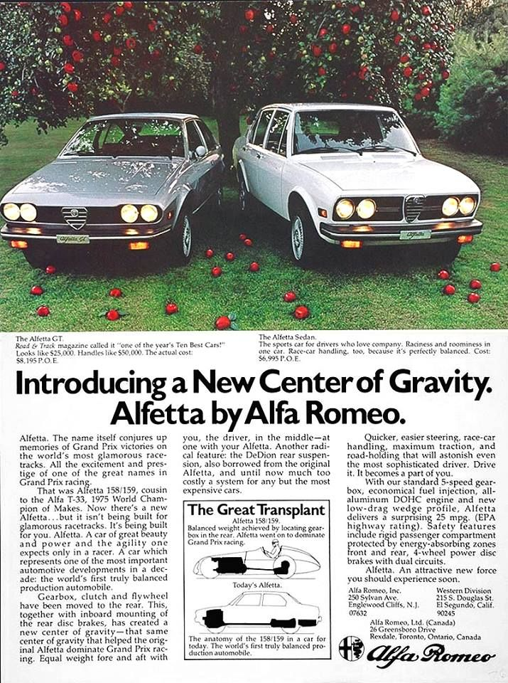 US Alfetta #advert | Passionate about Alfa Romeo | Alfa cars