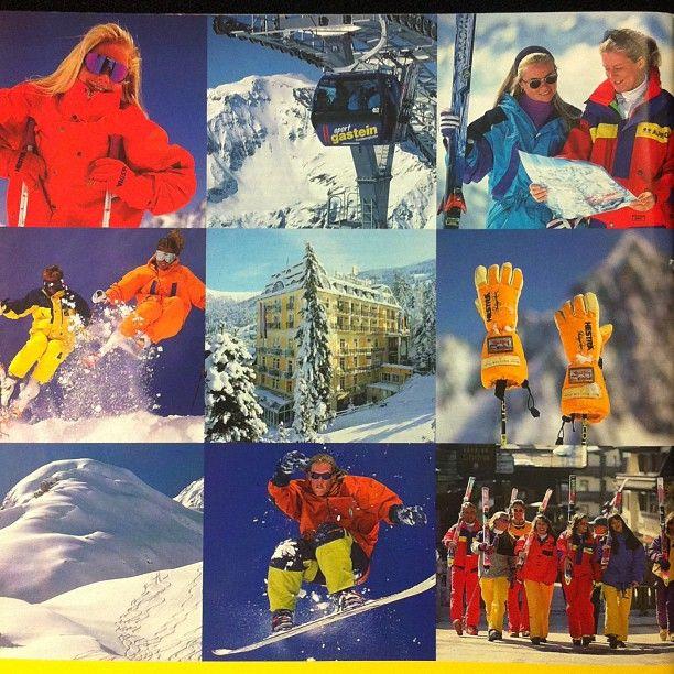 Fantastika bilder baksidan av en STS Alpresorkatalog - vilket år? ;) #stsalpresor #throwbackthursday #tbt #nofilter #fantastic #skiing #love #winter #smile