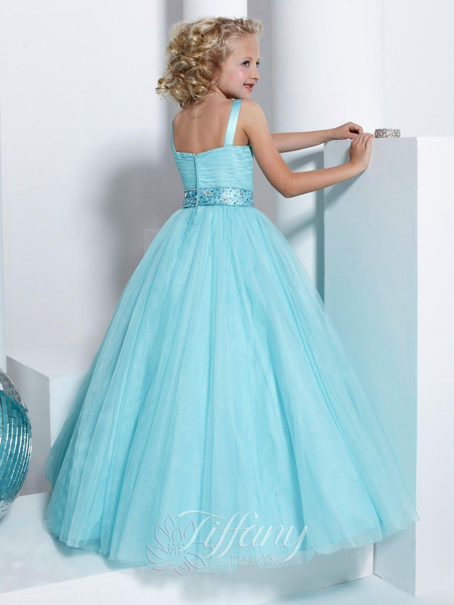 Tiffany Girls Pageant Dress 13315 Size 6 Royal Purple | Children ...