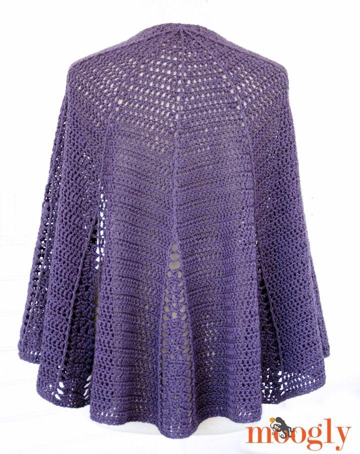 Branching Out Shawlette Free Crochet Pattern On Mooglyblog