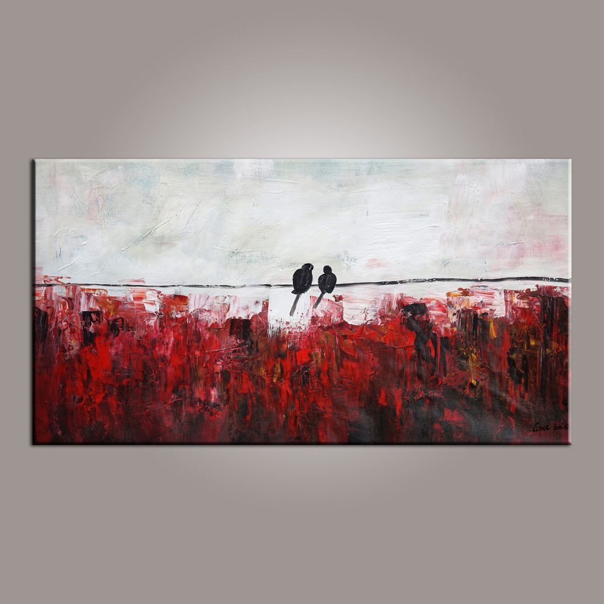 abstract art, love birds painting, painting for sale, modern art