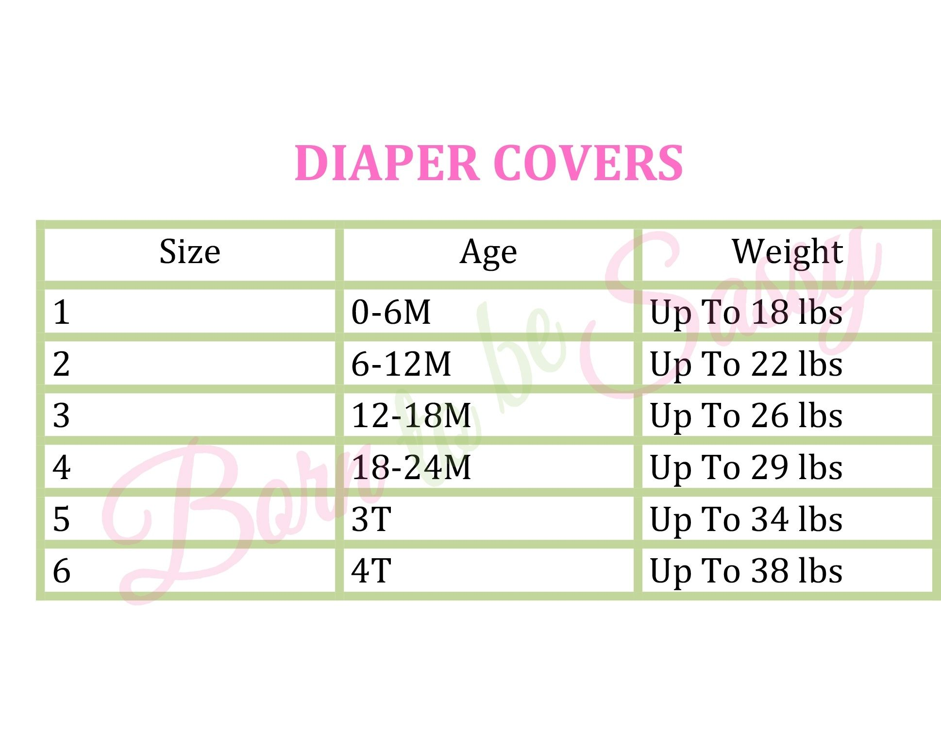 Monogrammed Baby Diaper Cover By Born To Be Sassy Intended For Diaper Sizes Chart By Age24228 Diaper Size Chart Pampers Size Chart Diaper Sizes