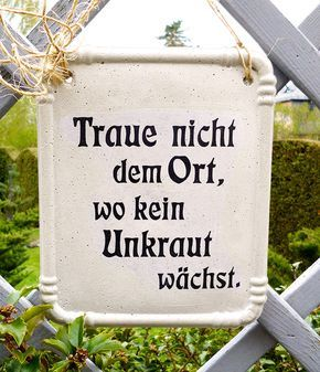 Dekoschild für den Garten, Garten Deko, Spruch, Zitat / sign with quote, garden decoration made by Papillon Design via DaWanda.com #kräutergartendesign