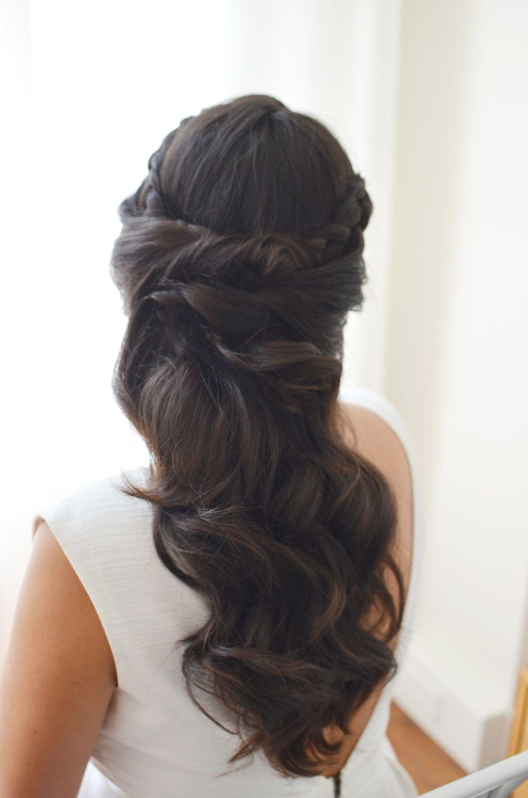 elegant bridal hair, best wedding hair, brunette hairstyles, half
