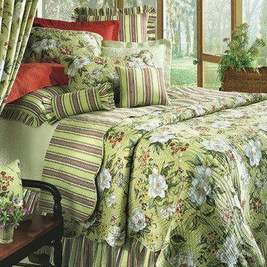 Magnolia Floral Quilt Bedding | Bedspreads and Comforters ... : magnolia quilt - Adamdwight.com