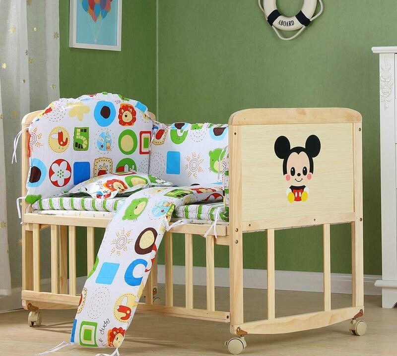 70b4b63d4c2d Eco-friendly Multifunction No Paint Wood Cradle Bed Newborn Cradle ...