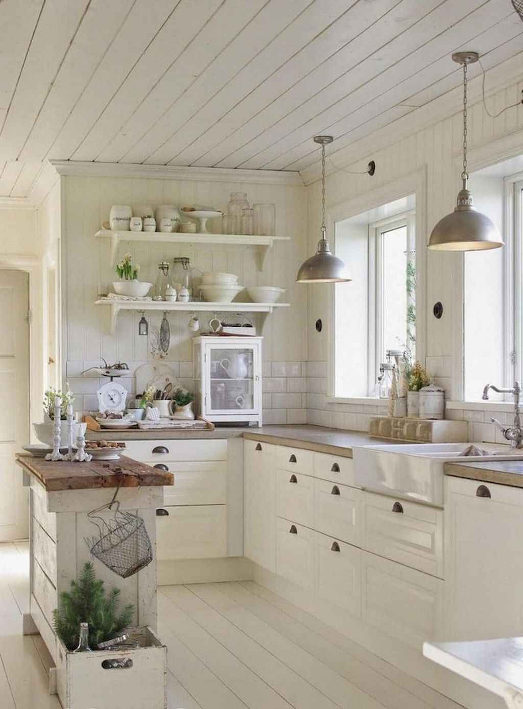 60 Stunning French Country Kitchen Decor Ideas #kitchen