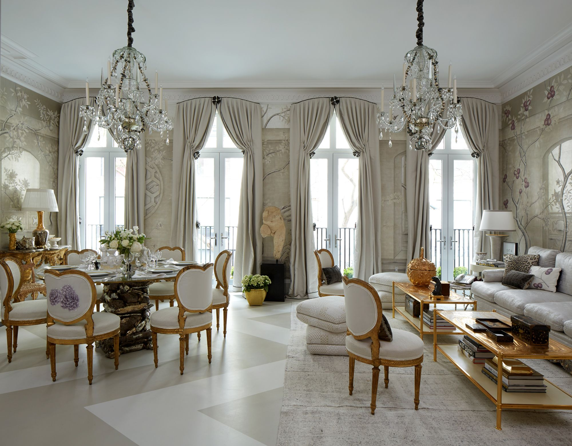 16 Gorgeous Home Decor Tips from A-List Decorators - Dress the curtains   - from InStyle.com