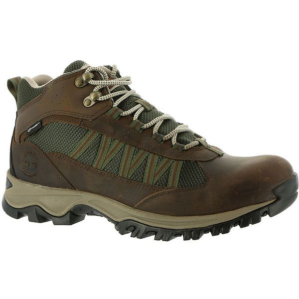 Timberland Mt. Maddsen Lite Mid WP Men's Brown Boot ($110) ❤ liked on  Polyvore featuring men's fashion, men's shoes, men's boots, brown, timberland  mens ...