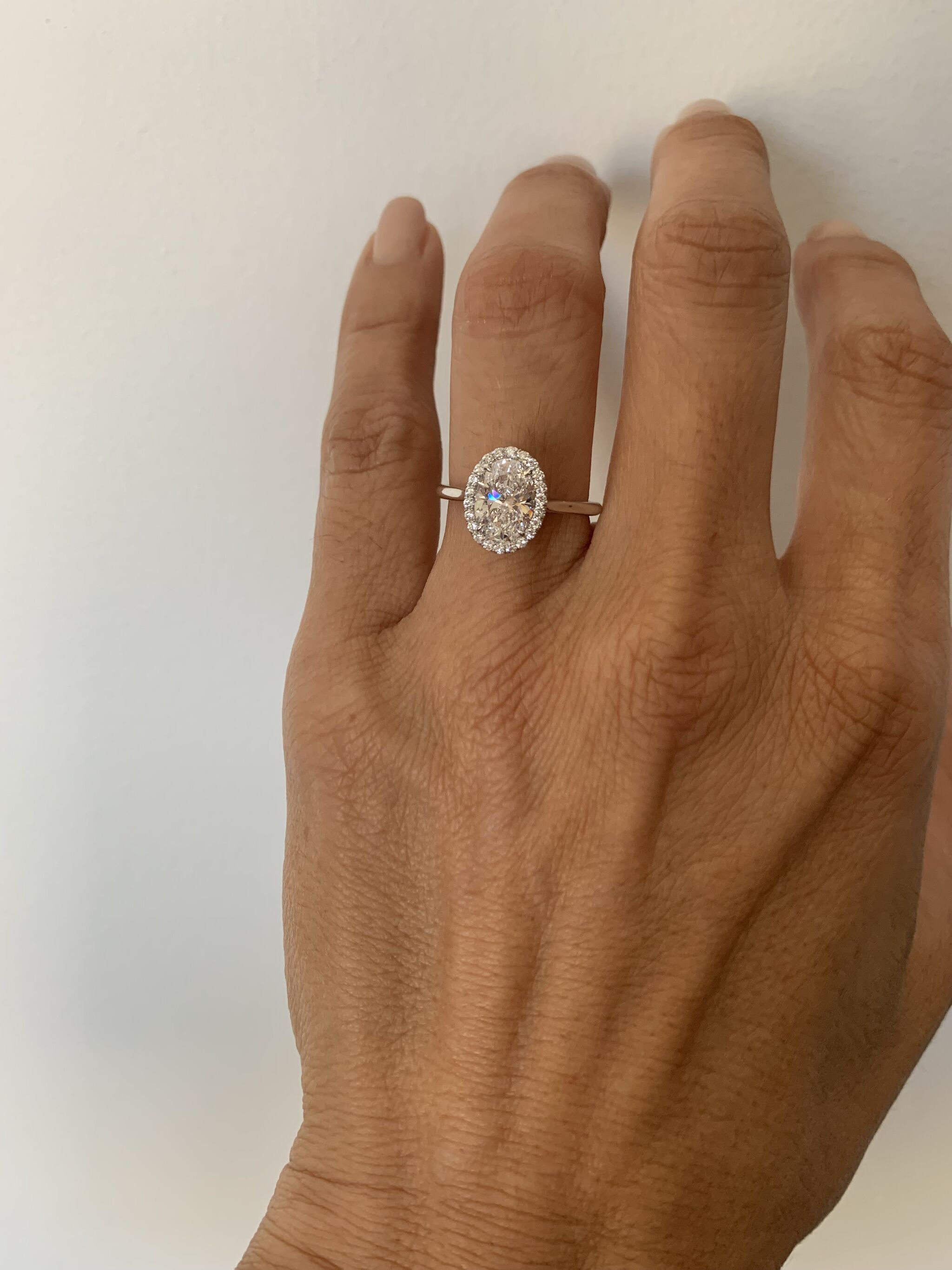 Plain Band Oval Halo Engagement Setting In 14k Rose Gold In 2020 Engagement Ring Plain Band Oval Halo Engagement Ring Gold Band Engagement Rings