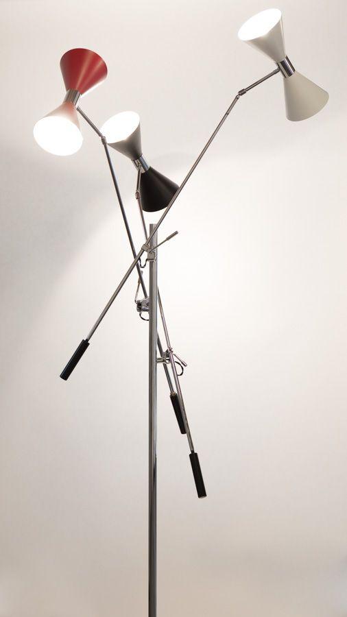 Lampada da terra STILNOVO Vintage Anni  50 8f5ff007d59