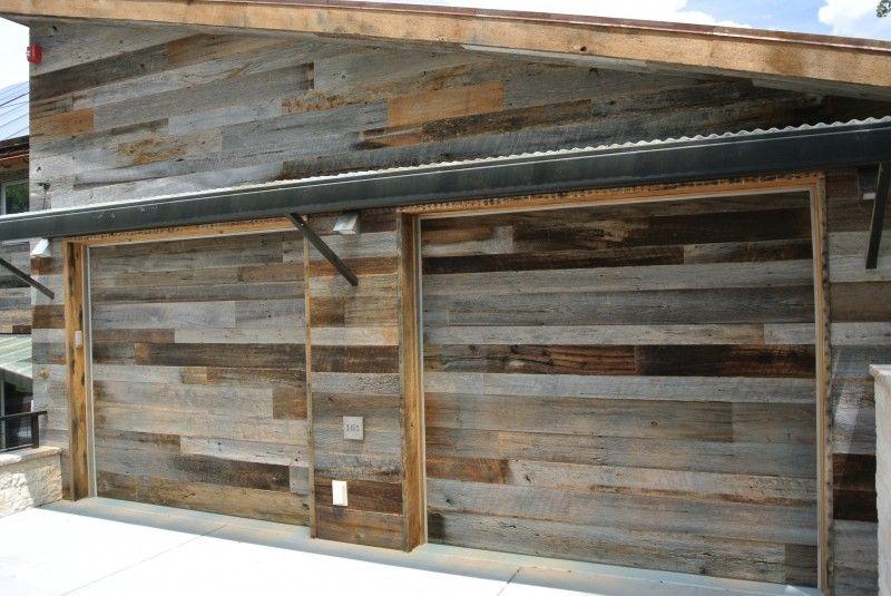 Reclaimed Designworks Wood Garage, Reclaimed Barn Wood Garage Doors