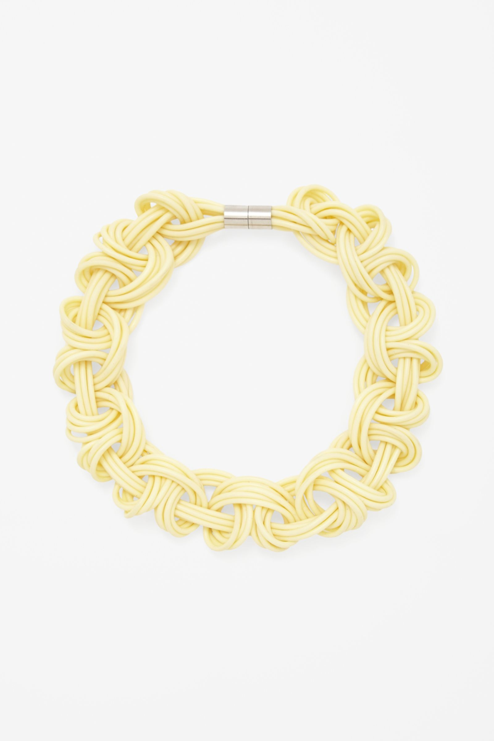 Braided loops necklace