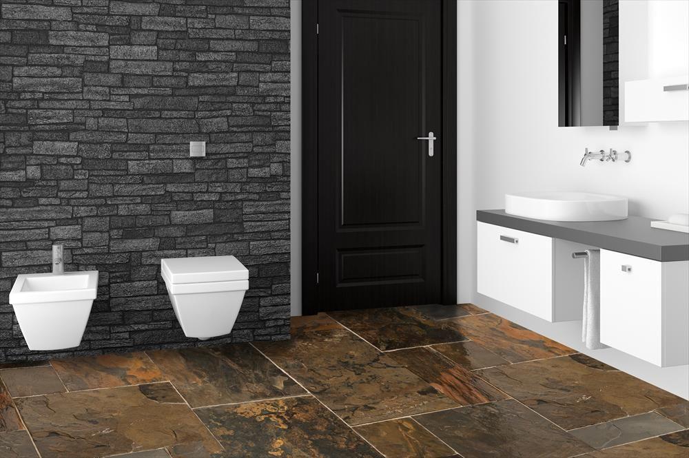 we had slate in erie ) Slate Tile - Slate Tiles Versailles Pattern - salle de bain ardoise