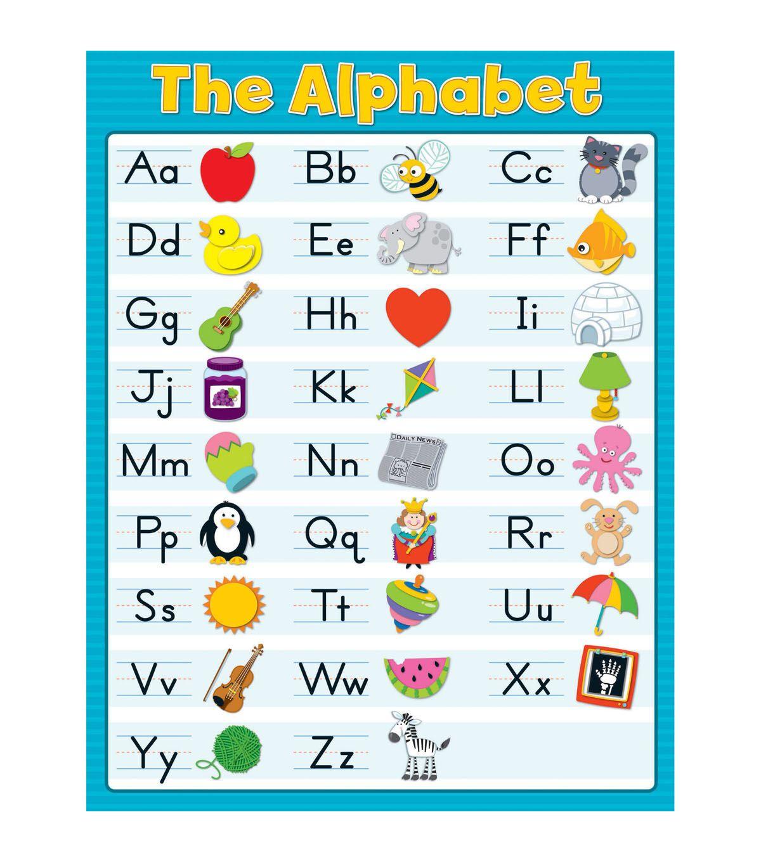 Carson Dellosa The Alphabet Blue Chart 6pk