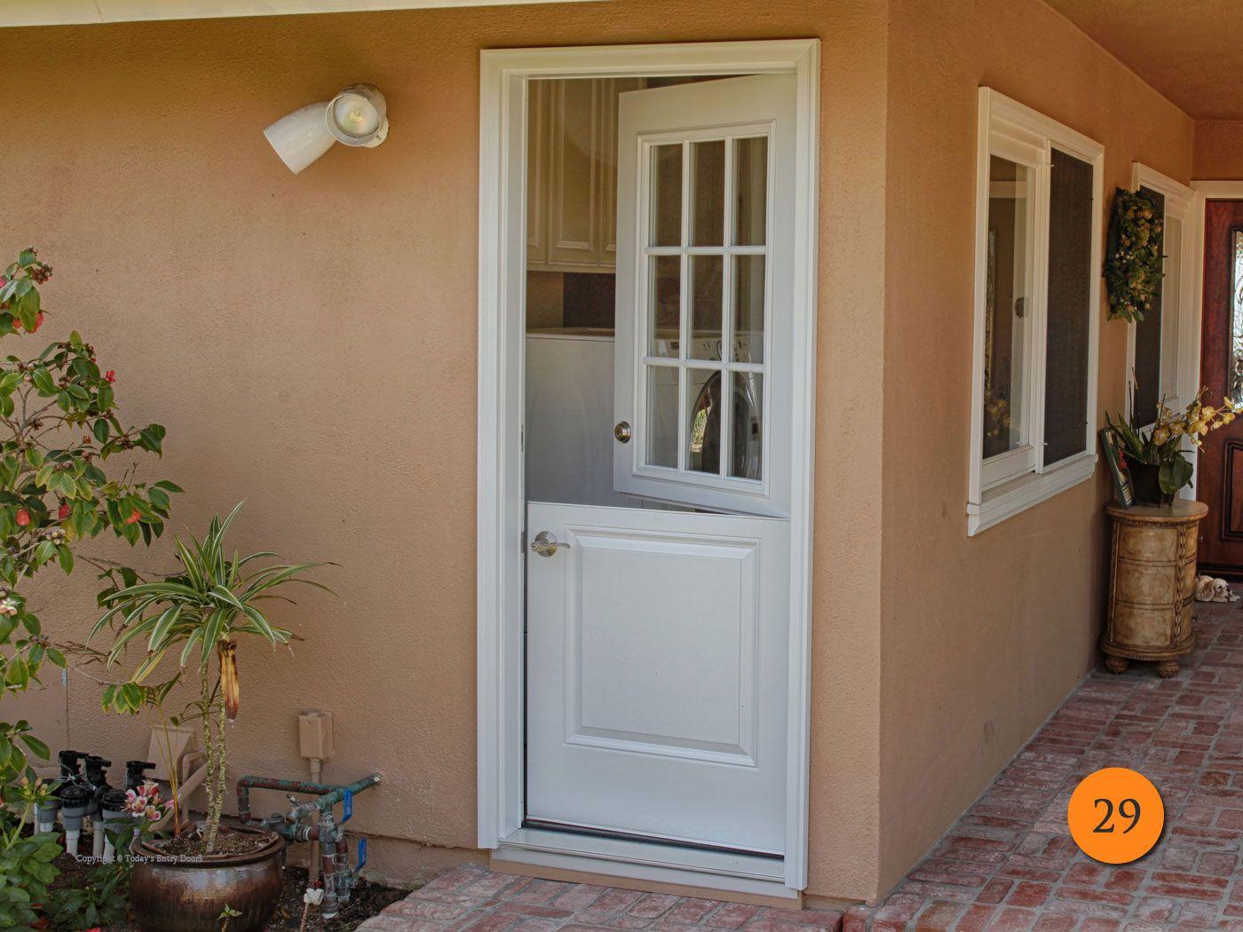 Single Side Dutch Door 32 X80 Plastpro Drs2b Fiberglass Smooth Surface Painted White 9 Lite Clear Glass Installed In Corona Del Mar Ca