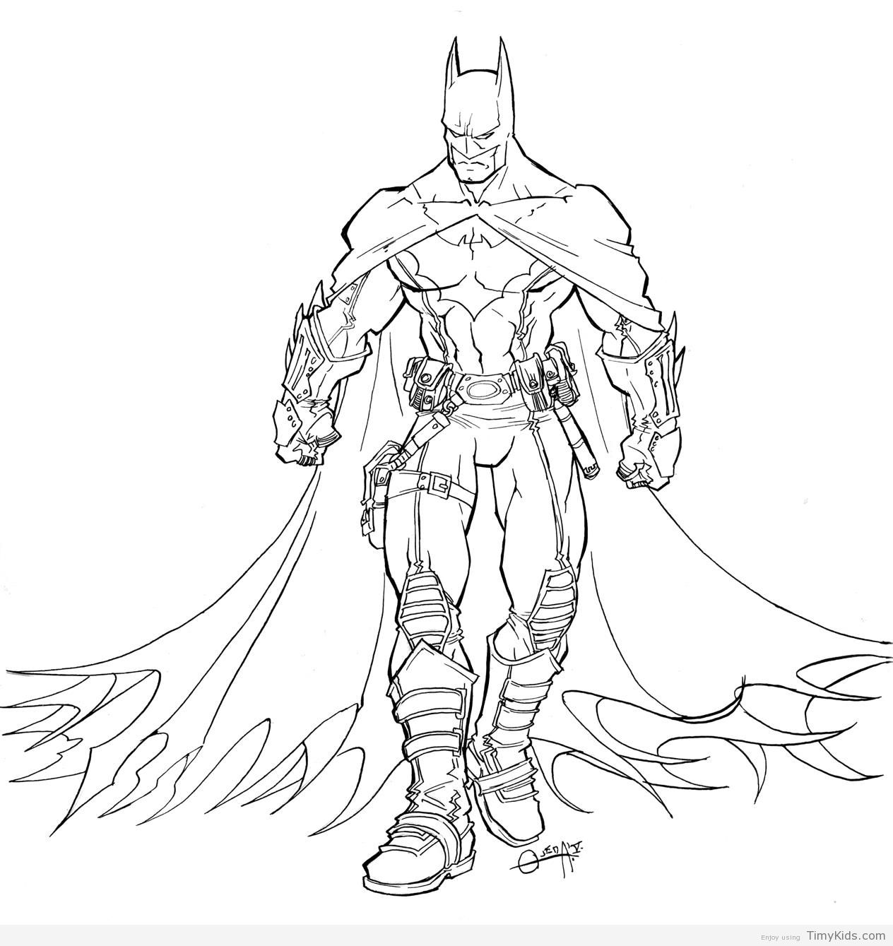 http://timykids.com/batman-coloring-outline.html | Colorings | Pinterest