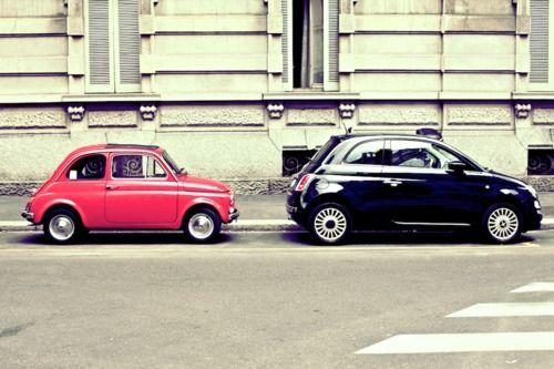 Fiat 500 Old Versus Newe Favorite Car Ever Funny Fiat 500c