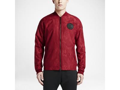 Mens Nike F.C. N98 Bomber Team Red/Black Track Jacket