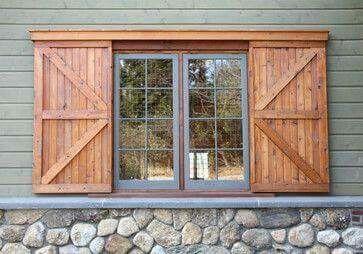 Window Shutters Look Like Barn Doors Shutters Exterior Window Shutters Exterior House Exterior