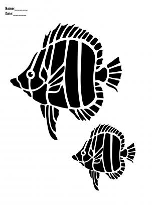Fish Stencil Paper Crafts | Tatoo | Pinterest | Fadenkunst, Stempel ...