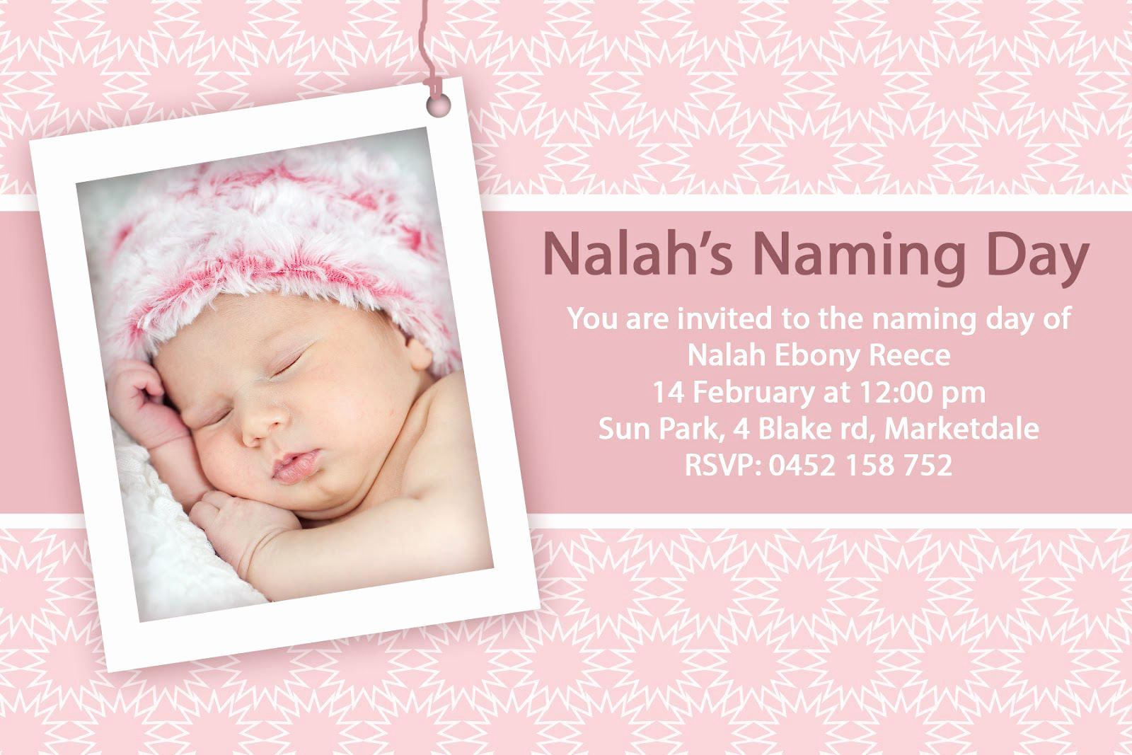 baby dedication invitation wording