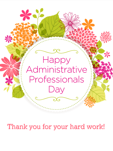 Pin On Administrative Professional Day Cards