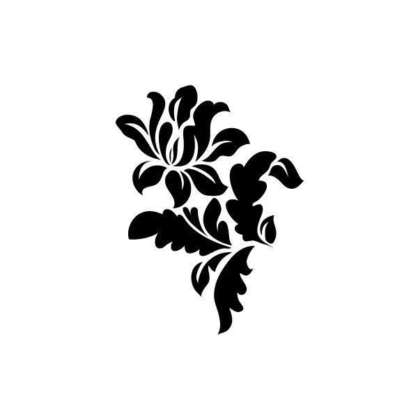Stencil Art For Walls stencil art for walls | wall stencil - flora 263 - stencils design