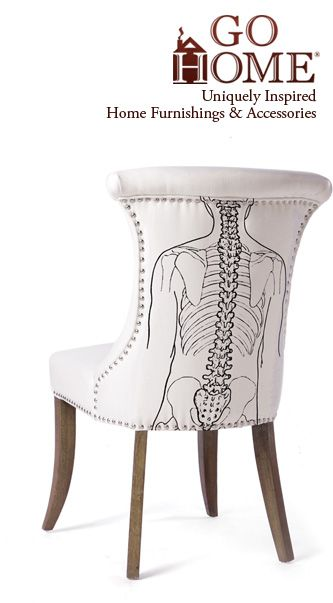 Chair Anatomy The Outside Back If Only My Spine Looked Like That Leather Chaise Lounge Chair Home Furnishing Accessories Cheap Chairs