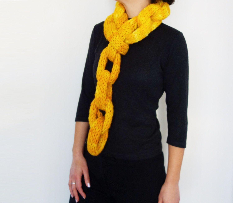 Knitting pattern jumbo chains scarfwinter super bulky hand knit knitting pattern jumbo chains scarfwinter super bulky hand knit cowl modern neckwear cozy neckwarmer bankloansurffo Gallery