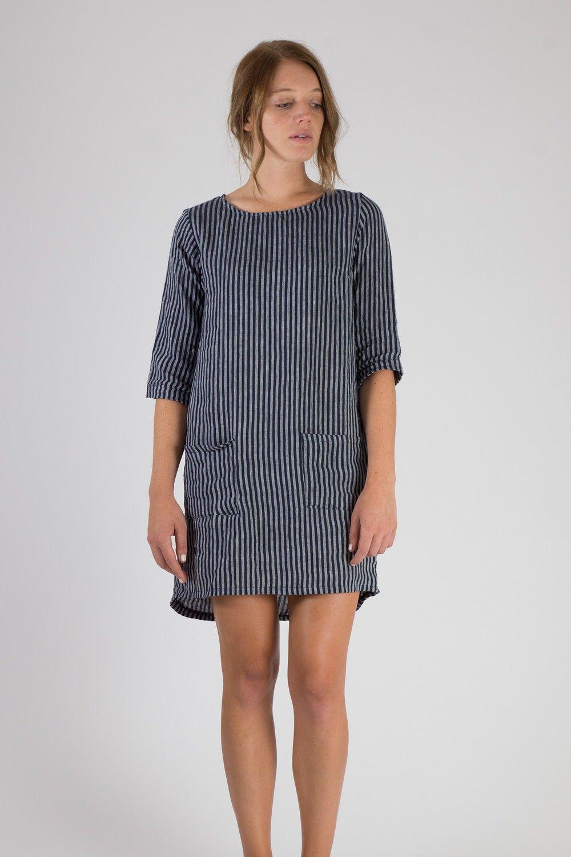 9b1c665d1b Pyne   Smith - model no. 20 - indigo stripe dress