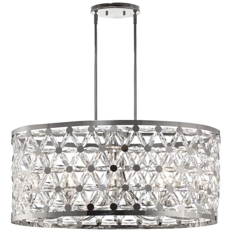 Maxim Cassiopeia 33 Wide Polished Nickel Pendant Light 45e67 Lamps Plus In 2020 Drum Chandelier Polished Nickel Pendant Light Polished Nickel Pendant