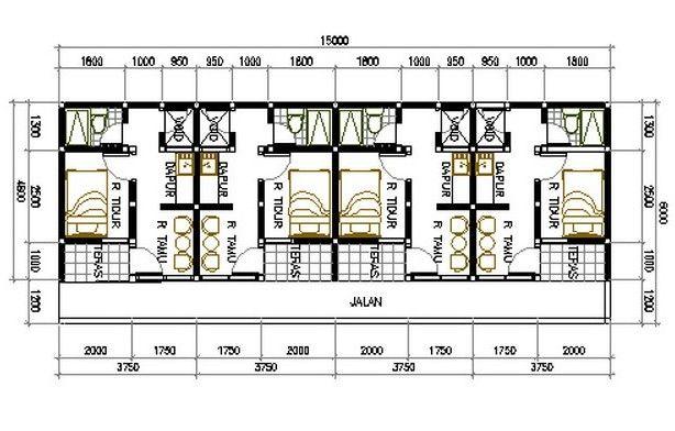 desain rumah kontrakan 2 lantai  Penelusuran Google  INTEREST  House design House plans