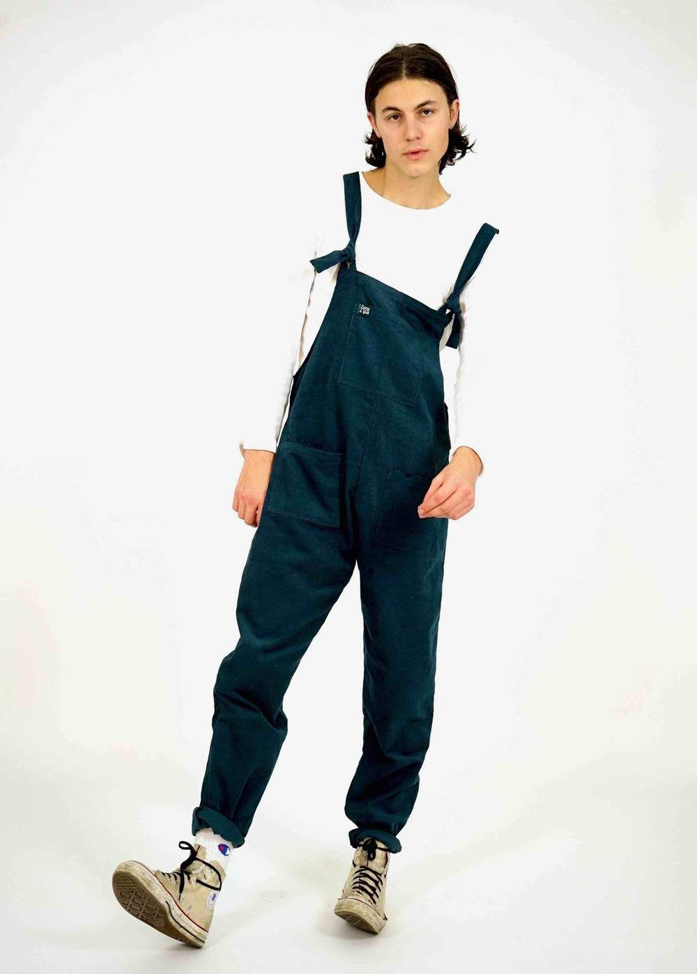 fine craftsmanship professional sale first rate Mens 'The Original' Corduroy Dungarees in Petrol Blue ...