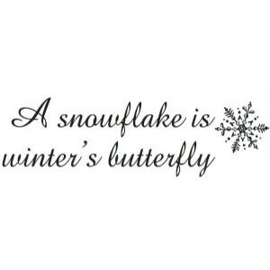 Superb Sarasota Stamps Mounted Rubber Stamp: Snowflakes Are Winteru0027s Butterfly