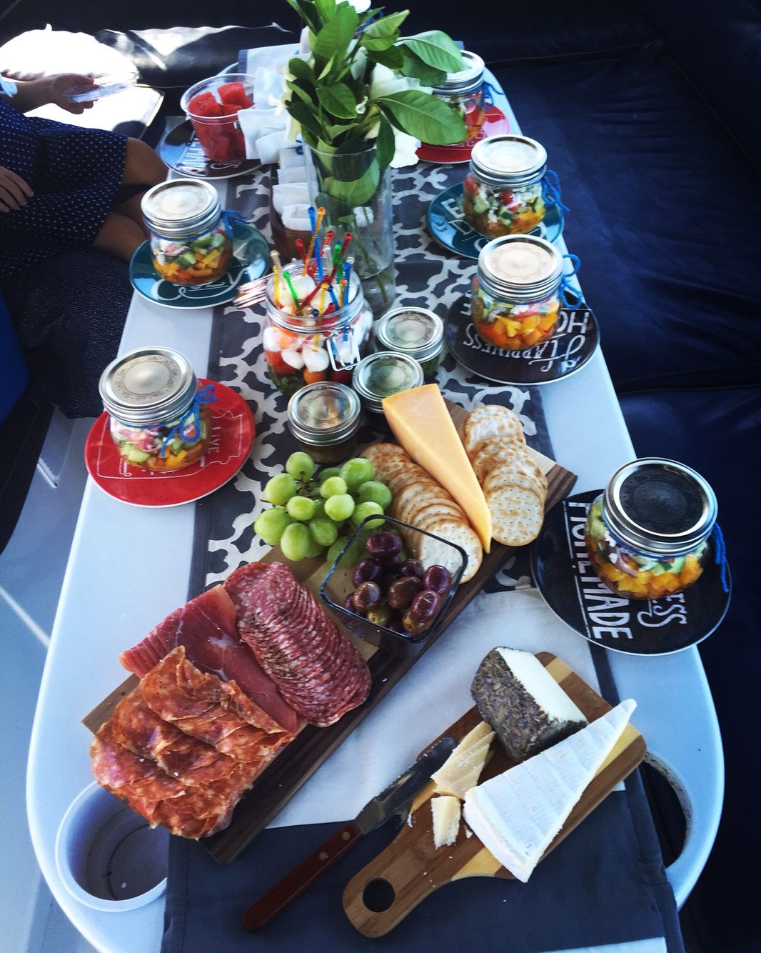 Lunch spread for a cruise around the Marina! Boat Party Foods 4e474f70c2c08
